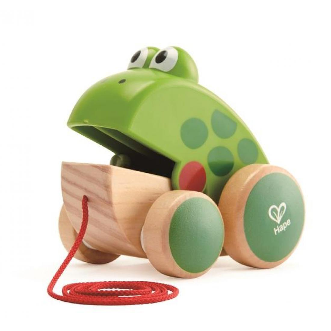 Hape: Frog – Pull Along Toy. It clicks as you pull it along. New Zealand's number 1 kiwi icon and a toy that children have enjoyed for more than 50 years.