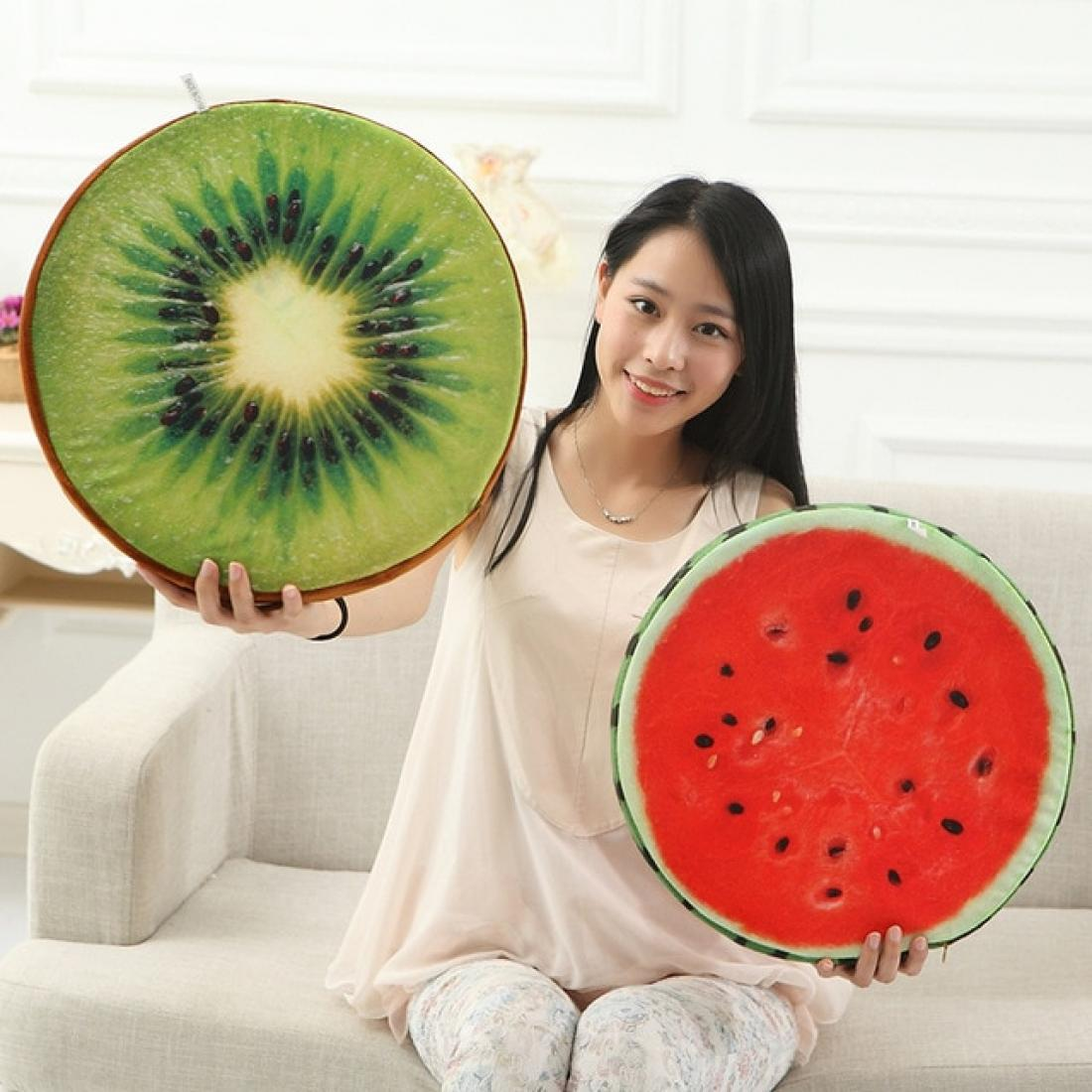 40cm fruit cushion leaning on Watermelon plush toys Kiwi Wooden stake pillows on the couch pillow birthday originality present