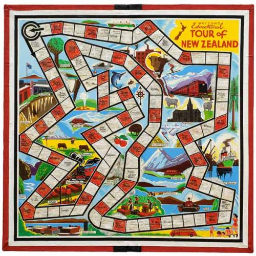 Tour of New Zealand – Board Game  First introduced the educational Tour of New Zealand game in the 1950's.