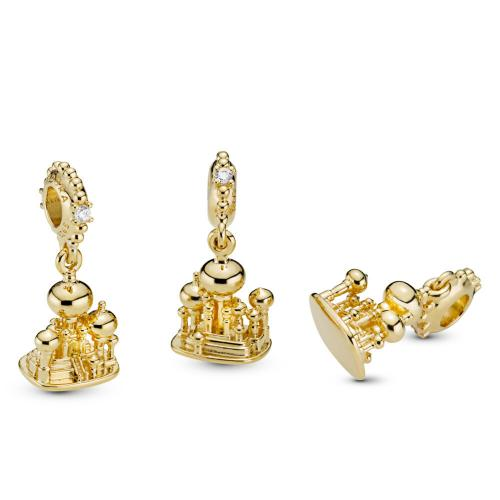 Disney, Agrabah Castle Dangle Charm- 18ct Gold Plated