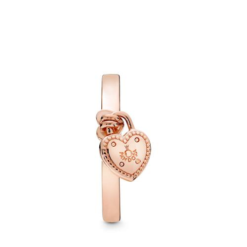 Love Lock Ring, Pandora Rose™ PANDORA Rose- Pandora Timeless Elegance Ring, PANDORA Rose, Clear Cubic Zirconia, Size 7