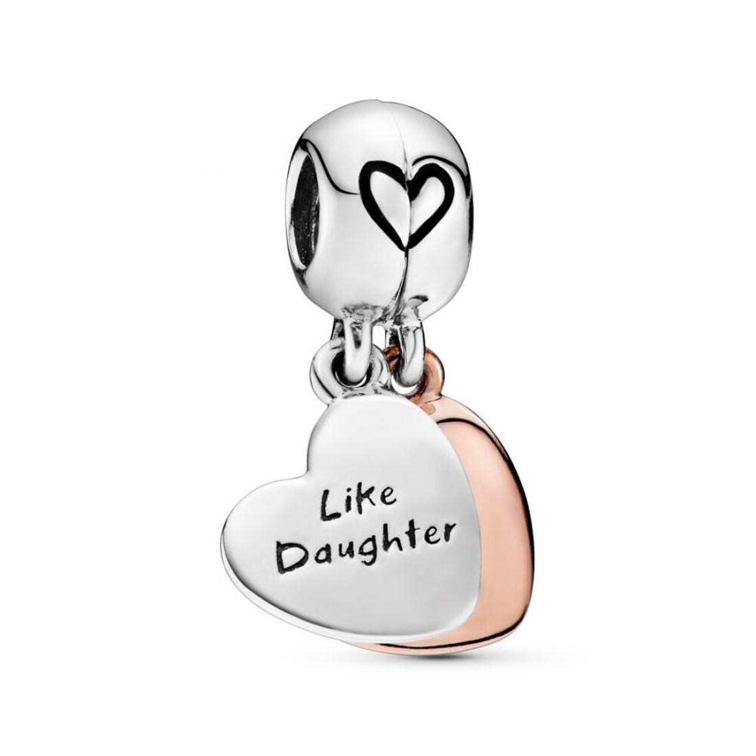 Mother & Daughter Love Dangle Charm PANDORA Rose with sterling silver, Enamel, Black
