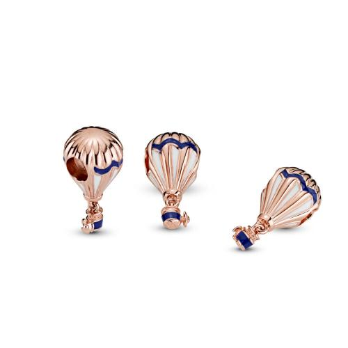 Blue Hot Air Balloon Charm, Pandora Rose™ PANDORA Rose, Enamel, Blue