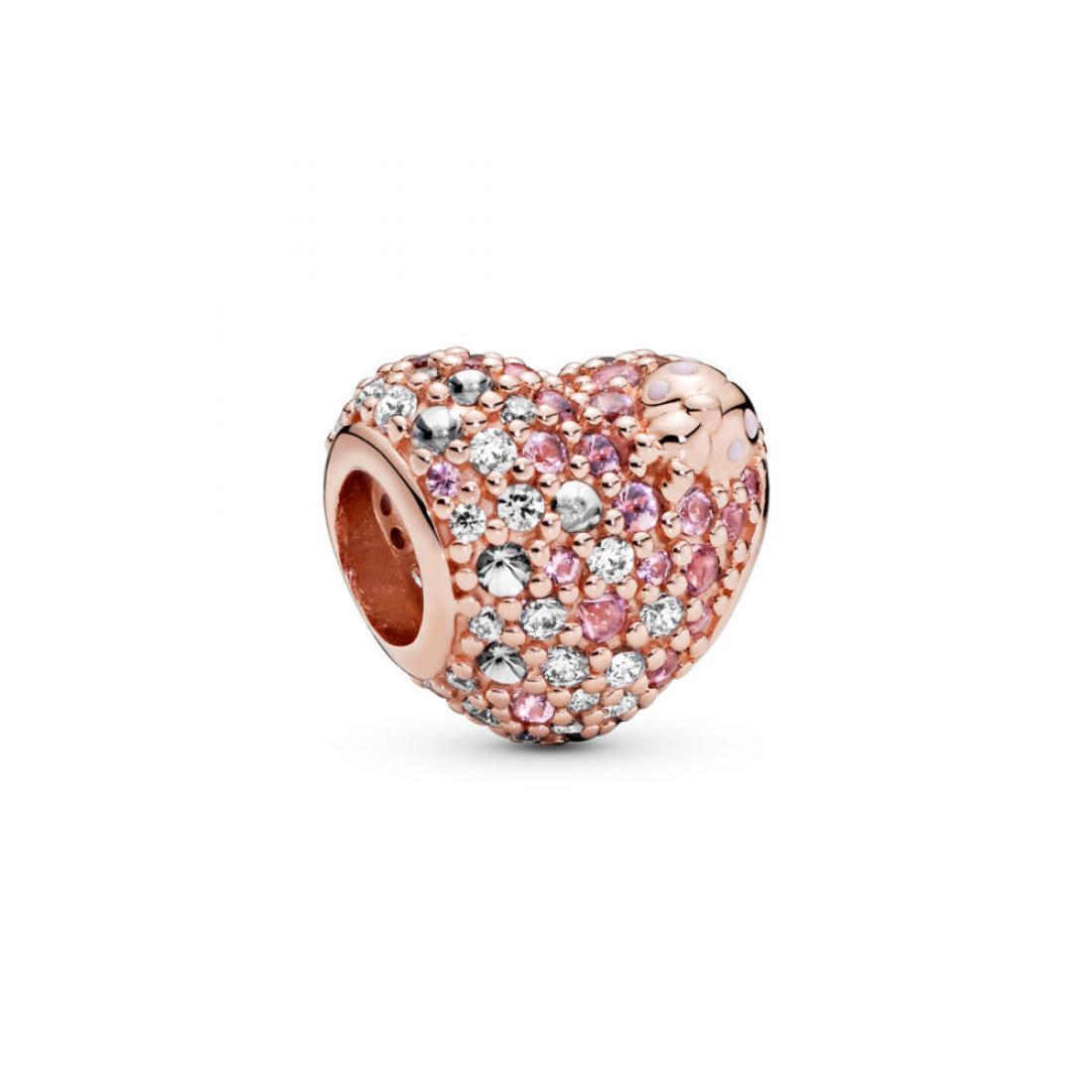 Mini Enamel Ladybug Pink Sparkle Crystal Charm Beads Set of 3